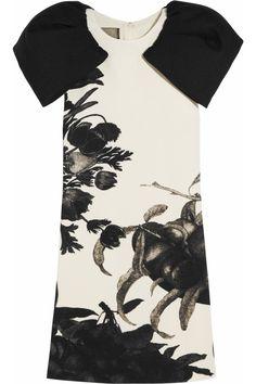 Giambattista Valli|Floral-print wool-crepe dress