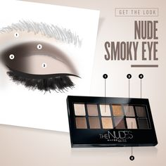 Work what your palette gave ya! Follow this makeup tutorial to create a sexy smoky eye using Maybelline The Nudes eyeshadow palette. For more eye look inspiration, click through.