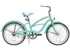 "Firmstrong Urban 20"" Girls Kids Single Speed Beach Cruiser Bicycle - Mint Green by Firmstrong. $169.99. Finally a beach cruiser for the kids. The Urban Girl features a 13"" with 20"" wheels which will accommodate boys ages 3 - 8. Training wheels can easily be added for when they are first learning to ride. Bicycle stops by pedaling backwards, easy and safe way for children to learn to ride. Size: 13"" Frame, 20"" Wheels/ Frame: Classic Cruiser Frame Design, Steel/..."