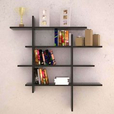 Bookcases | Wooden shelves, Lag bolts and Wall stud
