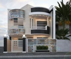 modern house front design ideas exterior wall decoration trends 2019 is part of House design - Modern House Facades, Modern Architecture House, Modern House Plans, Modern Houses, 2 Storey House Design, Bungalow House Design, Classic House Design, Unique House Design, Front Wall Design