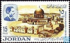 Postage Stamps - Jordan - Dome of the Rock; jerusalem