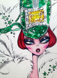 DRAHCIR, QUEEN OF PINES ~FashionSketch by Henry Dale House 2015
