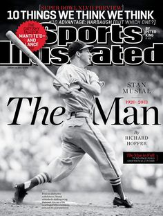 Stan Musial - St. Louis Cardinals - Sports Illustrated Cover (Jan. 28, 2013)