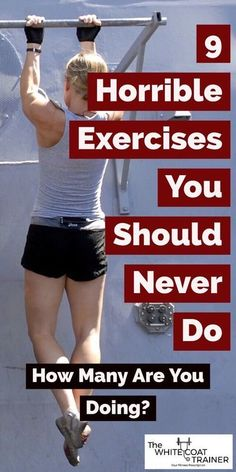 9 Horrible Exercises You Should Never Do- How Many Are You Doing? 9 Horrible Exercises You Should Never Do- How Many Are You Doing? Fitness Humor, Fitness Workouts, Fitness Motivation, Fitness Gym, Sport Fitness, Physical Fitness, Trainer Fitness, Funny Fitness, Gym Humor