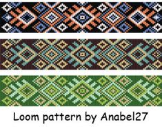 Loom bead pattern ethnic style beaded от ColorfulBeadPatterns