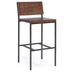Progressive Sawyer Bar/Counter Stool Wood/Metal Bar Stool