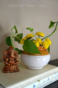Decorating with grocery store flowers - Whats Ur Home Story