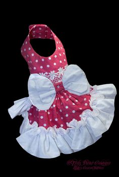 Fun in the Sun  Designer Pink and White Flirty  Dog Harness Dress. $75.00, via Etsy.