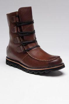 Brown Leather Boot, Men's Fall Winter Fashion.