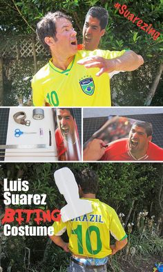 One of the most talked about moments of the World Cup! Luis Suarez biting is one HILARIOUS costume that everyone is going to love.