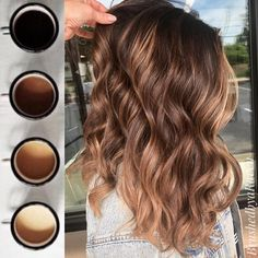 Good Morning ☕️ 89 Dark Winter Hair Color For Blondes Balayage Brunettes 2019 20 Short Hair Ombre Light Brown to Blonde Cabelo Rose Gold, Cabelo Ombre Hair, Ombre Curly Hair, Ombre Hair Color, Hair Color Balayage, Hair Highlights, Dyed Hair, Curly Hair Styles, Balayage Hair Light Brown