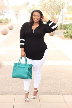 Stylish Plus-Size Fashion Ideas – Designer Fashion Tips Looks Plus Size, Look Plus, Curvy Girl Fashion, Plus Size Fashion, Womens Fashion, Fashion 2016, Curvy Outfits, Casual Outfits, Night Outfits