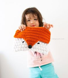 Crocheted Fox Clutch, free pattern