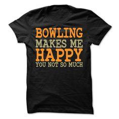 Bowling Makes Me Happy T-Shirt T Shirt, Hoodie, Sweatshirt
