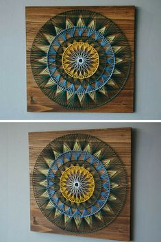 Mandala String Art, beautiful! #stringart #ad #wallart #walldecor #homedecor #officedecor #giftideas #weddinggifts #handmade #mandala #wood