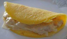 crepe fit sem glúten 2 ingredientes  1 ovo 2 cs de amido de milho (maizena)  Modo de fazer: Bata o ovo com o garfo ou fouet e depois acrescente a maizena e bata até virar um creminho líquido. Despeje em uma frigideira untada. Deixe ficar firme e vire o lado. Depois é só rechear com o que quiser.