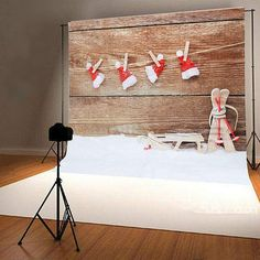 Christmas Hat Snow Photo Background Studio Photography Backdrop Props
