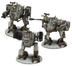 Dust Tactics Axis Walkers