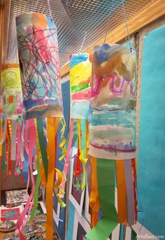 Windsocks for Kindergarten Kindergarten Line Windsock. Watercolor Resist painting, streamer linesKindergarten Line Windsock. Watercolor Resist painting, streamer lines Preschool Art Projects, Kindergarten Art Projects, Preschool Art Lessons, Children Art Projects, Preschool Activities, Line Art Projects, Art Education Projects, Ecole Art, Art Lessons Elementary