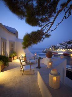 balcony in Hydra island, Greece (Villa Hydrea)