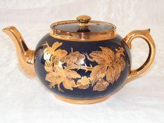 Image detail for -Gibsons Staffordshire England Gold Embossed Teapot : Splendique ...