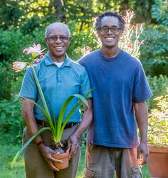A father and son share a lifelong love of plants and a landscape they've created together. Urban Agriculture, Yard Waste, Hardy Perennials, Garden Club, Family Values, Delphinium, Salvia, Father And Son, Growing Vegetables