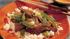 Beef & Pea pods - Travel to the Orient with this mouthwatering Asian stir-fry dish! A skillet or wok is the only pan you need! Asian Stir Fry, Asian Beef, Asian Recipes, Beef Recipes, Cooking Recipes, Recipies, Asian Foods, Stir Fry Dishes, Main Dishes