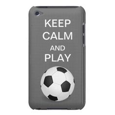 Keep Calm and Play Soccer iPod Form Fitting Casemate Case #iPod #casemate #soccer #football #futbol #women #sports #keepcalm #cases #Zazzle