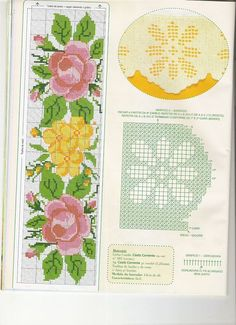 ponto-cruz-flores-toalha-de-mesa-grafico-500x400 78 gráficos de flores em ponto cruz para imprimir