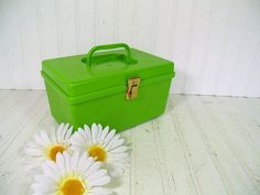 Retro Apple Green Wilhold Wilson Sewing Box  by DivineOrders, $33.00