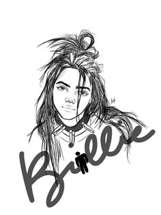 "MINPDNIM on Twitter: ""Billie Eillish digital sketch… "" Billie Eilish, Digital Art, Sketch, Shit Happens, Twitter, Sketch Drawing, Drawings, Sketches"