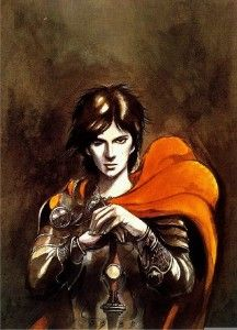 """Wikipedia.org/***CHARACTER-- Corum Jhaelen Irsei--(""""the Prince in the Scarlet Robe"""") is the name of a fictional fantasy hero in a series of two trilogies written by author Michael Moorcock."""