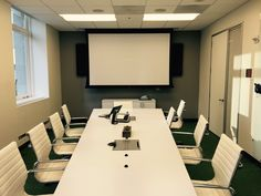 Conference room reserved & ready! #DaLite #Shure #Biamp #JBL Conference Room, Commercial, Table, Projects, Furniture, Home Decor, Blue Prints, Meeting Rooms, Tables