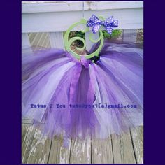 """Shades of purple tutu.  This was created by Angie @ Tutus 2 You.  Find me on Facebook, pinterest and Twitter!  Giveaways often!  I specialize in tutus, tulle wreaths, tutu dressees, hair bows, hair bow holders and starting adult """"rave"""" outfits! tutu2you1@gmail.com"""