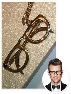 cccd087b0df Brad Goreski s FW Moment of the Day  Kate Spade s Nerd Glasses Necklace