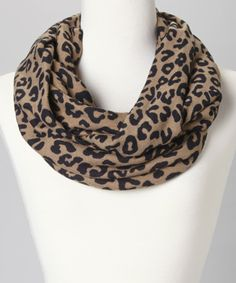 Take a look at this Brown Leopard Infinity Scarf on zulily today!