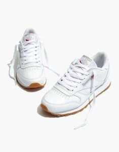 b0830213a6b1f5 Madewell Reebok Classic Sneakers in White Leather