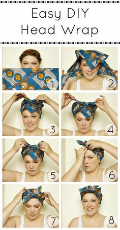 How to make a turban. Easy Diy Head Wrap - Step 2