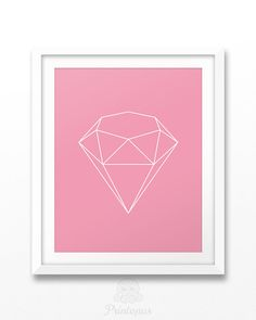 50% off BLACK FRIDAY  Printable Diamond Art in Pink by Printopus
