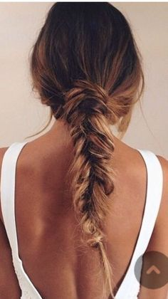 Hair & makeup | beauty | braid trend | perfect fishtail braid | ombré hair