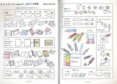 BallPoint Pen Illustrations Japanese Drawing by JapanLovelyCrafts