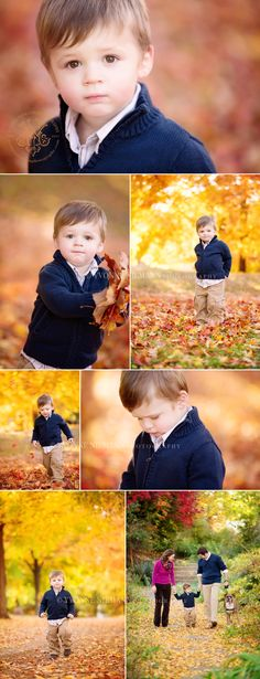 Great outfit for a boy's outdoor photography session! Beautiful fall family photos by Yvonne Niemann Photography - Athens, GA family photographer