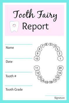 Tooth Fairy Report Jpg 1 200 1 800 Pixels Tooth Fairy Tooth Fairy Receipt Teeth