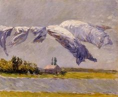 Gustave Caillebotte - Laundry Drying, Petit Gennevilliers (1892)