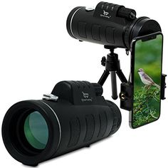 Monocular Telescope by Stress Free Key - 12x50 High Power Prism Scope With Quick Smartphone Mount Adapter and Tripod - for Hunting Sports Outdoors Wildlife Travel - Waterproof Fogproof Shockproof -  It's pretty simple, you want the best Monocular with Smartphone Mount on the Market. When you give a gift, you want them to go WOW. We created something that really needs to be held to understand. These are not cheap Chinese monoculars sold by our competition. They have some heft to them. They…