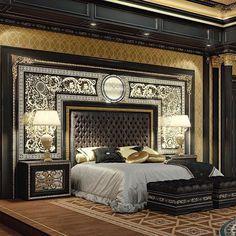 Luxury Bedroom Design, Bedroom Bed Design, Home Decor Bedroom, Luxury Interior, Room Interior, Interior Design, Home Decor Furniture, Luxury Furniture, Bedroom Furniture