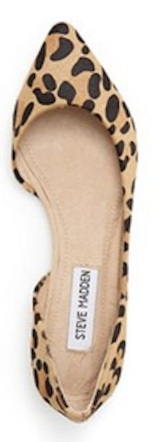 Leopard print d'Orsay flats