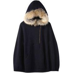 【ELLE SHOP】イリアンローヴ イベリアウール ホールガーメントフードポンチョ ファッション通販 エル・ショップ
