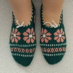 These soft, warm, and comfortable hand knitted slippers have Anatolian patterns and intended for indoor use only. They are very useful to give comfort your feet and ideal gift for friends and family. You can order different color and size. All items are knitted in a non-smoke, pet-free, and